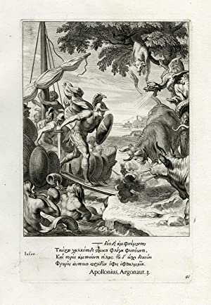 Antique Print-JASON-ARGONAUTS-GOLDEN FLEECE-Diepenbeek-bloemaert-mariette-1655