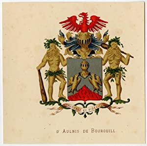 Antique Print-HERALDRY-COAT OF ARMS-D'AULNIS DE BOUROUILL-Wenning-Rietstap-1883