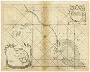 Antique Map-SEACHART-HOLY ISLAND-BERWICK UPON TWEED-FARNE-Collins-Oetjes-1693