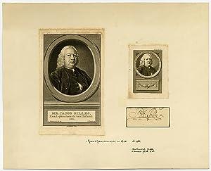 2 Antique Prints-JACOB GILLES-SIGNATURE-Buys-Schouman-Vinkeles-Houbraken-1755