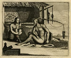 Antique Print-JAPAN-LEPER-LEPROSY-Montanus-1669