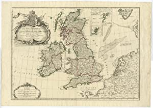 Antique Print-BRITISH ISLES-ENGLAND-IRELAND-SCOTLAND-Janvier-Lattre-c. 1770