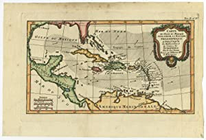 Antique Print-GULF OF MEXICO-WEST INDIES-CARIBBEAN-Bonne-c. 1780