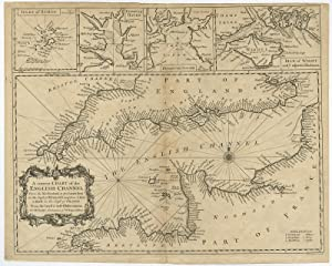 Antique Print-ENGLISH CHANNEL-CHART-ENGLAND-SCILLY-WIGHT-Tindal-Seale-c. 1745