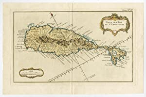 Antique Print-SAINT KITTS-CHRISTOPHER-CARIBBEAN-Bellin-c. 1765
