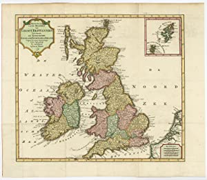 Antique Print-GREAT BRITAIN-IRELAND-ENGLAND-SCOTLAND-WALES-Tirion-c. 1750