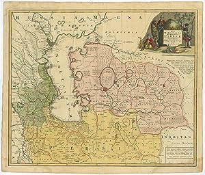 Antique Map-UZBEKISTAN-PERSIA-IRAN-CASPIAN ...
