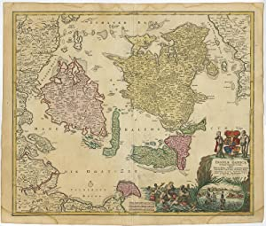 Antique Map-DENMARK-SCANDINAVIA-BALTIC-Homann Heirs-1720