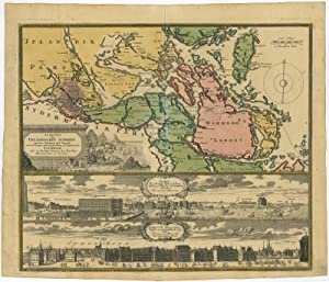 Antique Map-STOCKHOLM-SWEDEN-VIEW-Homann Heirs-1720