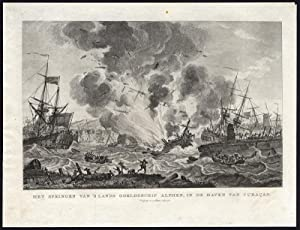 Antique Print-HISTORY-EXPLOSION-ALPHEN-CURACAO-Kobell-Punt-1787