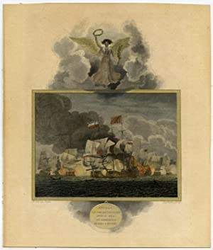 Antique Print-NAVAL BATTLE-BLAKE-MONCK-ANGLO DUTCH WAR-Cleveley-Walker-1803