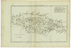 Antique Map-JAMAICA-CARIBBEAN-Bonne-c. 1780