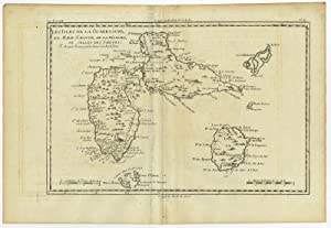 Antique Map-GUADELOUPE-CARIBBEAN-LES SAINTES GRAND BOURG-Bonne-c. 1780