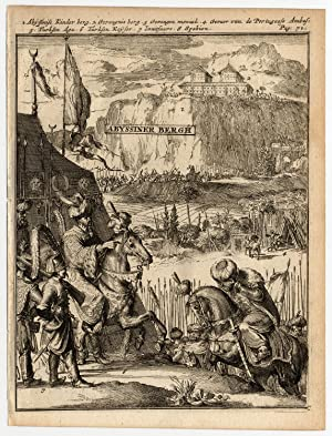 Rare Antique Print-TURKISH CONQUEST OF ABYSSINIA-de Hooghe-1682