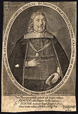 Antique Print-CHRISTOPH PHILIP RICHTER-PORTRAIT-Johann Durr-1648