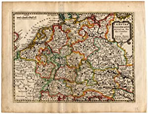 Antique Map-EMPIRE OF GERMANY-NETHERLANDS-de Missy-de Leth-1749