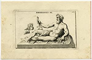 Antique Print-STATUE-RHONE-RIVER-FRANCE-PERSONIFICATION-Thomassin-1695