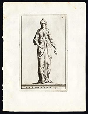 Antique Print-STATUE-QUEEN-EGYPT-Thomassin-1695