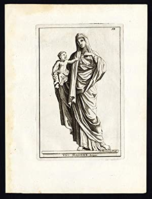 Antique Print-MADONNA-JESUS CHRIST-Thomassin-1695