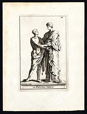 Antique Print-PEACE GREEKS-Carlier-Thomassin-1695