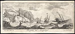 Rare Antique Print-PELAGOS-ARCADIA-GREECE-SHIP-SAILING-Vorsterman-Peeters-1685