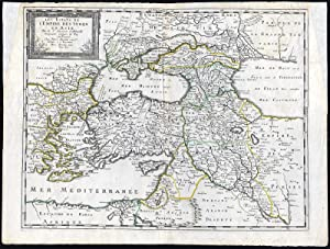 Antique Map-TURKISH EMPIRE-TURKEY-ASIA-CYPRUS-MIDDLE EAST-PERSIA-Sanson-1650