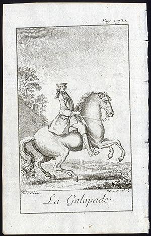 Antique Print-CANTER-HORSE GAIT-GALOPADE-Parrocel-Beauvais-1769