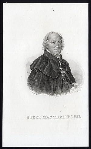 Antique Print-PORTRAIT-EDME CHAMPION-PETIT MANTEAU BLEU-Bouvier-Steubs-1840