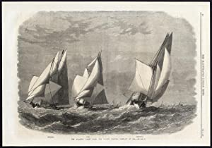 Antique Print-SAILING SHIP-ATLANTIC YACHT RACE-1867