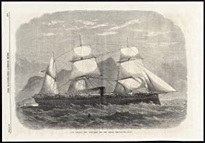 Antique Print-SAILING SHIP-HMS SERAPIS-TROOPSHIP-1867