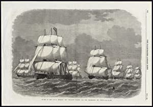 Antique Print-SAILING SHIP-NAVAL RESERVE-ENGLISH NAVY-CRUISE-SCILLY-1869