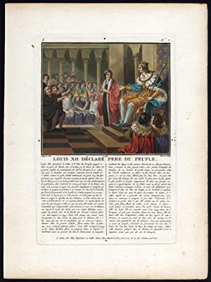 Antique Print-LOUIS XII-KING OF FRANCE-HOUSE OF VALOIS-Moret-Naigeon-1789