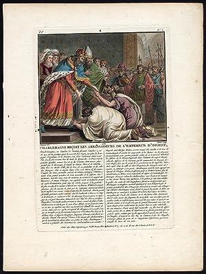 Antique Print-CHARLEMAGNE-CHARLES THE GREAT-FRANKS-EMPEROR-Moret-Naigeon-1791
