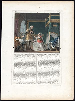 Antique Print-MARGARET OF PROVENCE-MARGUERITE-QUEEN-FRANCE-LOUIS IX-Sergent-1787