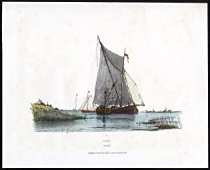 Antique Print-SHIP-KAAG-SAILING VESSEL-ZEELAND-Greive-1870