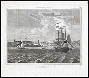 Antique Print-HAVANA-CUBA-VIEW-SAILING SHIP-Zeelander-Steyn-1839