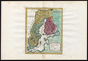 Antique Map-SWEDEN-FINLAND-SCANDINAVIA-LAPLAND-Vaugondy-1760