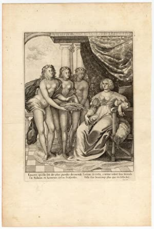 Rare Antique Print-AMALIA VAN SOLMS SPOUSE OF FREDERICK HENRY-la Serre-1639