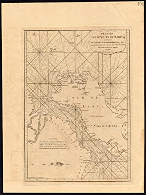 Antique Map-STRAITS OF BANCA-INDONESIA-SUMATRA-Laurie and Wittle-1796