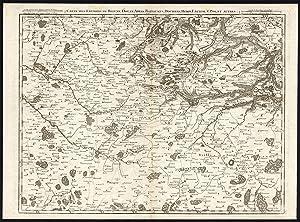 Antique Map-FRANCE-DOUAI-ARRAS-HESDIN-BETHUNE-BAPAUME-Crepy-Fricx-1743