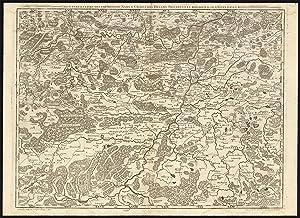 Antique Map-BELGIUM-FRANCE-CHARLEROI-DINANT-NAMUR-ROCROI-Crepy-Fricx-1743