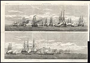 Antique Print-NAVY-WARSHIP-NAVAL REVIEW-SPITHEAD-FLEET-PORTSMOUTH-Duncan-1856