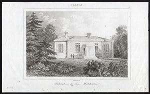 Antique Print-NOVA SCOTIA-JUDGE-THOMAS HALIBURTON-HOUSE-CANADA-Lemaitre-1849