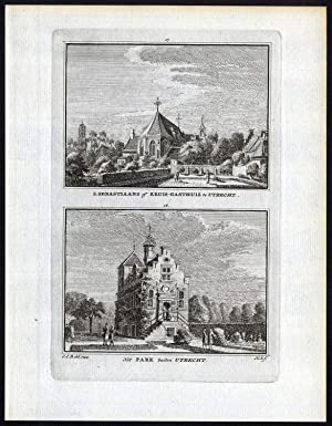 Antique Print-UTRECHT-SINT SEBASTIAANS-KRUIS GASTHUIS-PARK-Spilman-De Beijer-174