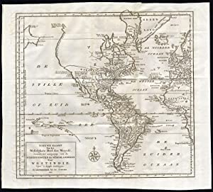 Antique Map-AMERICA-WEST INDIES-Tirion-1754