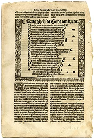 Rare Antique Print-ACROSTIC-BRUGES PRAYS FOR PEACE-Doppere-Vorsterman-1531