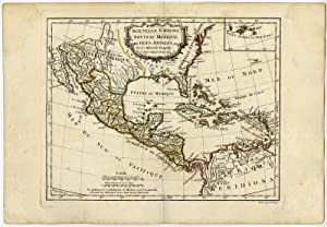 Antique Print-MEXICO-CARIBBEAN-USA-Vaugondy-Dussy-1778