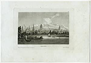 Antique Print-VIEW-OXFORD-ENGLAND-1850