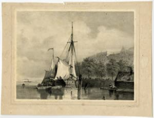 Antique Print-SHIPS IN DUTCH HARBOUR.-Breuhaus de Groot-c. 1860