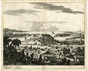 Antique Print-PORT-ACAPULCO-MEXICO-Montanus-1671